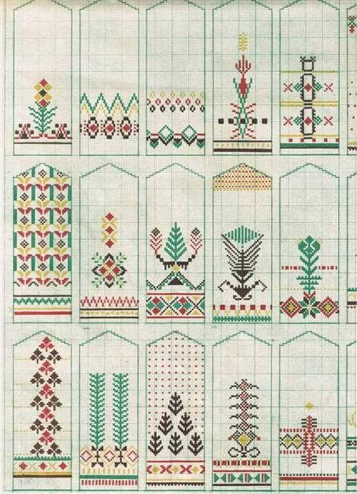 Орнаменты для вязанияварежек.