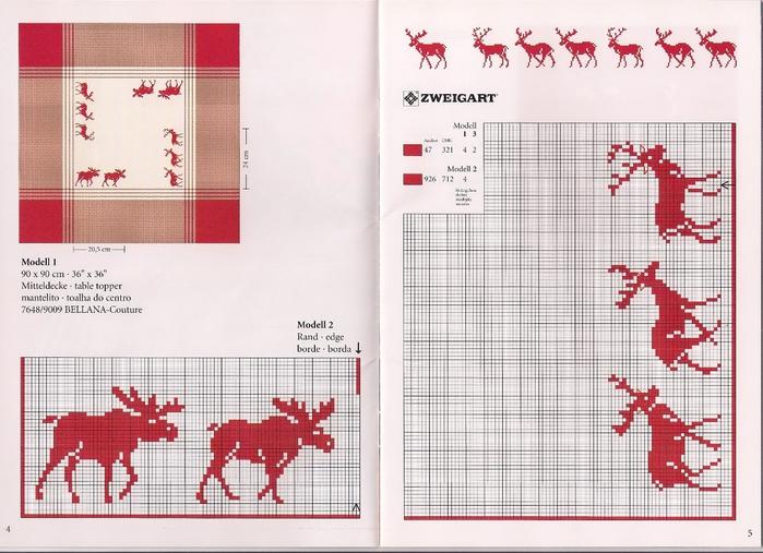 Схемы вышивок крестом олени 727