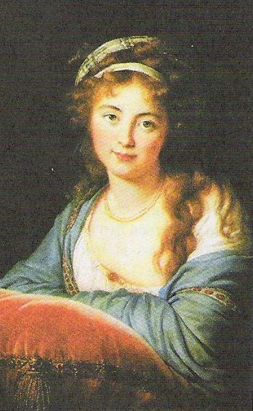 Марта Скавронская в юности. (370x600, 57Kb)