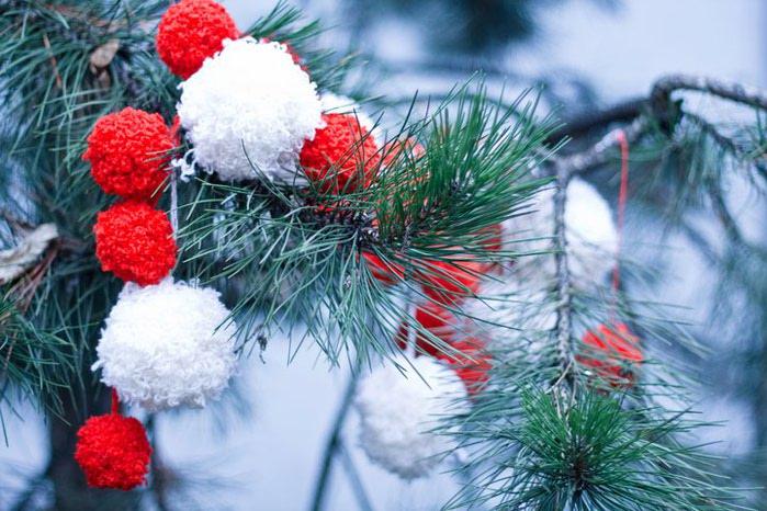 Фото украшения на елку своими руками