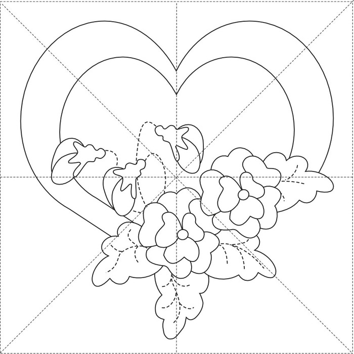 Pansy Heart 12inch (700x700, 86Kb)