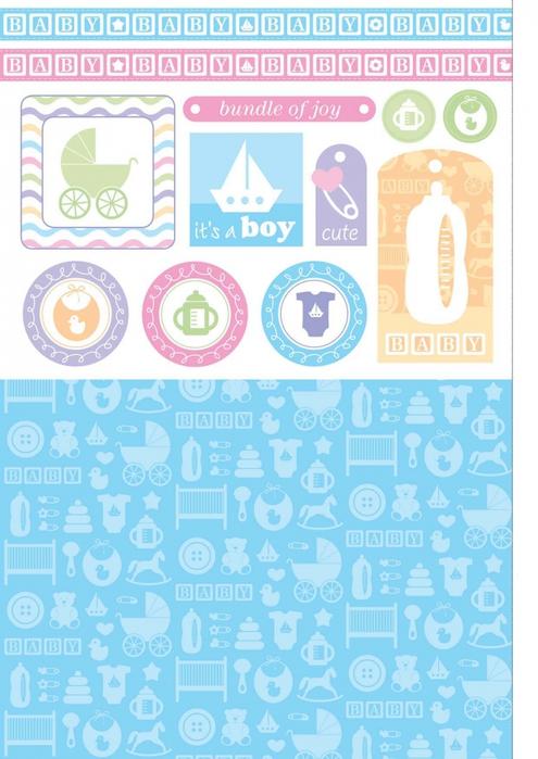 шаблон открытки для новорожденного