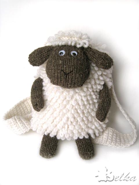 Вязаный рюкзачок Овца Схема и