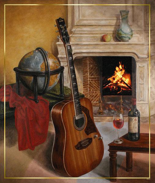 Гитара и вино (507x600, 112Kb)