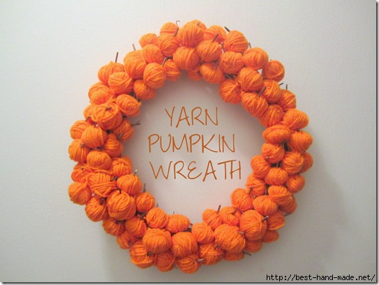 Yarn Pumpkin Wreath {KraftyKat}_thumb[5] (543x408, 119Kb)