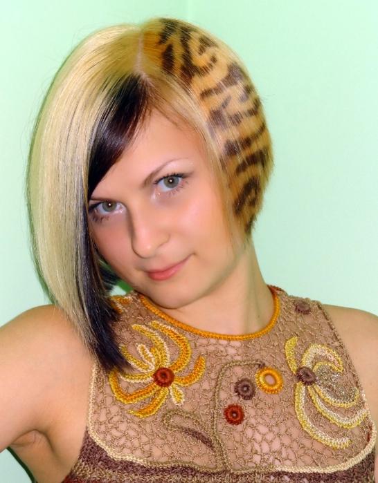 креативная покраска волос