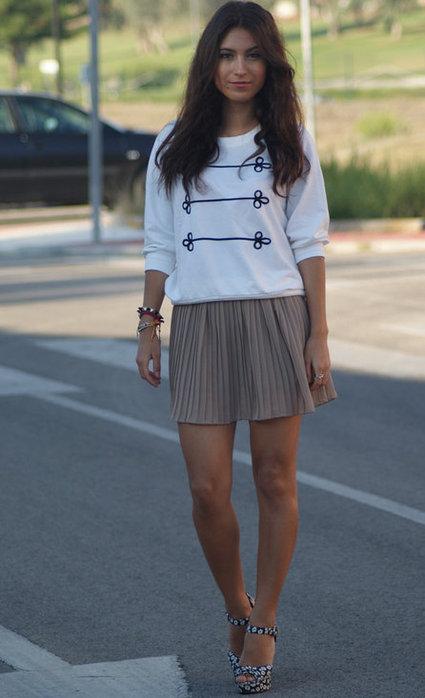 модные и стильные короткие  юбки 2013