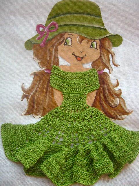 Аппликации для девочки вязание 61