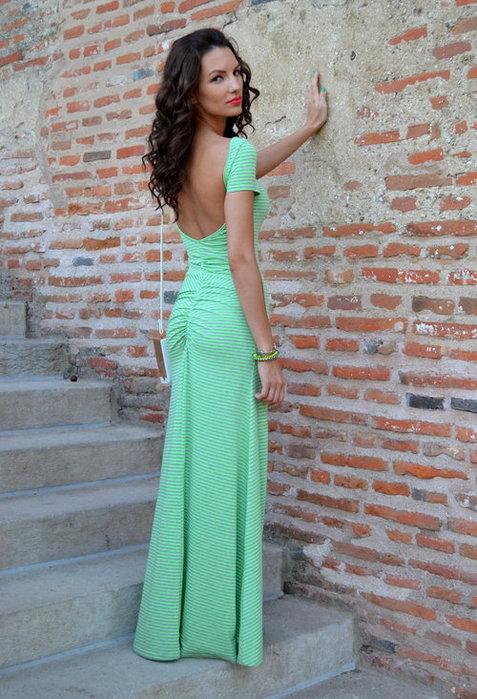 Мятное платье фото 6