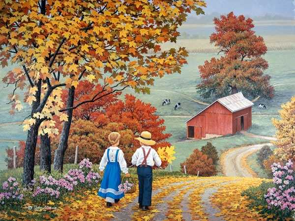Осенние картины Джона Слоуна