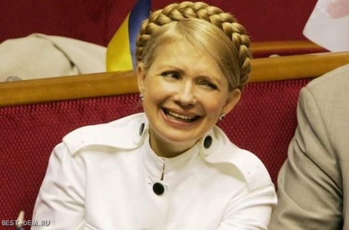 Юлия Тимошенко при косе и
