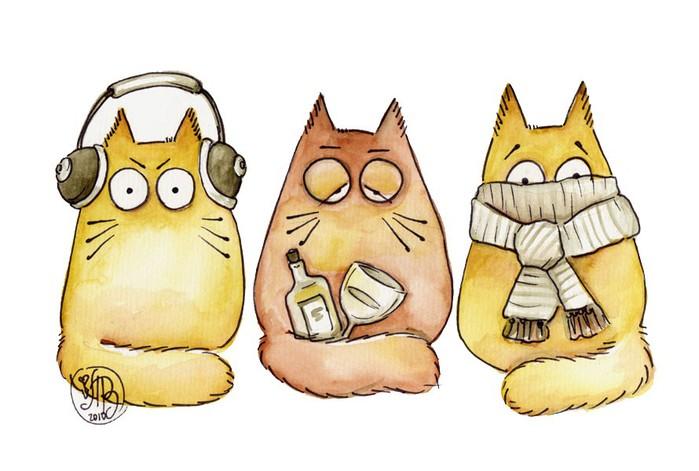 Рисуем кота прикольного