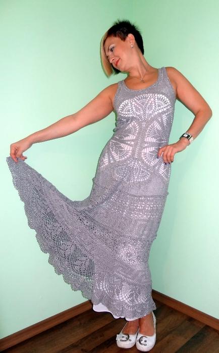 Платье (вязание крючком, схемы