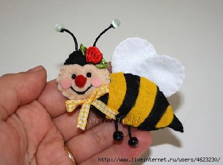 Как сделать пчелу из ткани