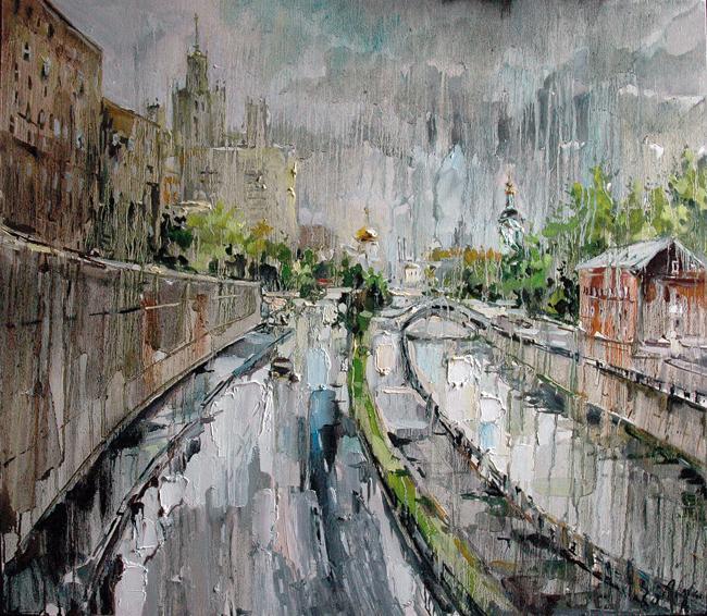 1 Чарина Анна. Дождь. Яуза (650x566, 98Kb)