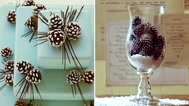 new year decor on wedding_pinecone (630x355, 153Kb)