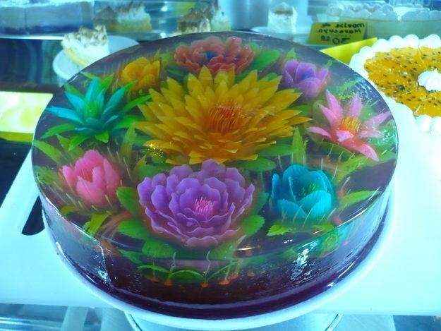 Как приготовить цветки желе
