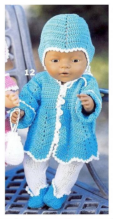 Вязание для кукол беби с описанием