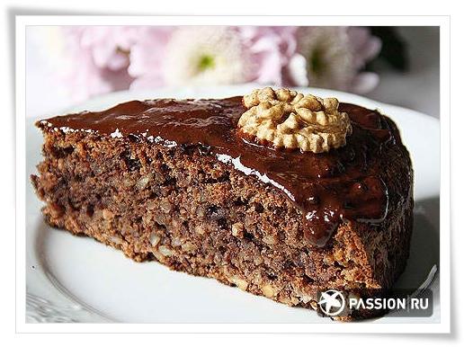 Шоколадный торт с грецкими орехами рецепт