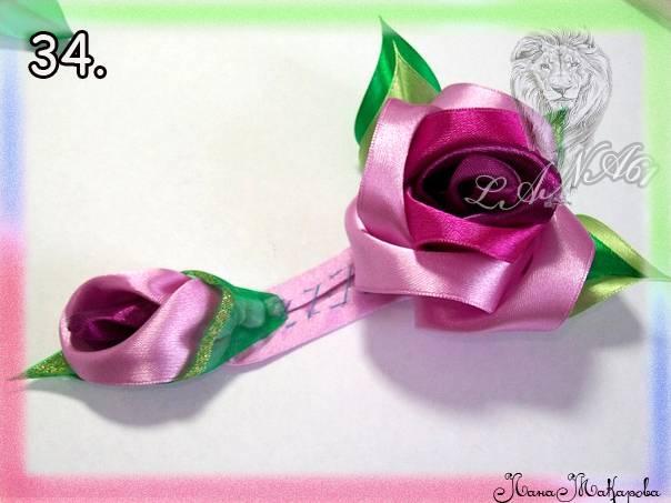 【转载】【转载】手工丝带花:玫瑰