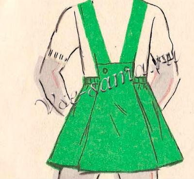 Выкройка юбка с бретельками