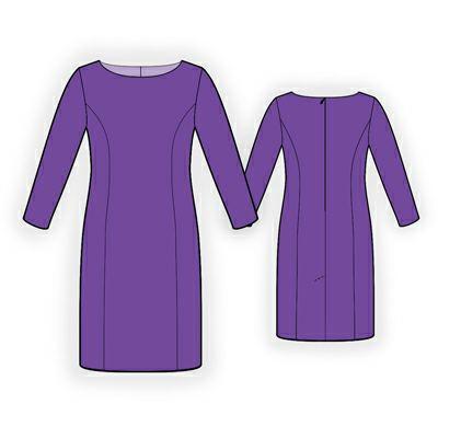 Выкройка - классическое платье. http://kris-stil.ru/100-vykroyka-kl...skoe-plate.html.