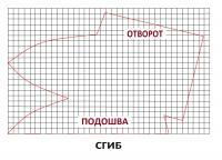 выкройка тапочек с отворотом (200x144, 7Kb)