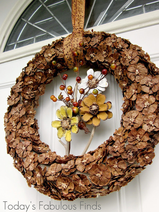 Fall Pine Cone Flower Wreath_5970b (525x700, 215Kb)