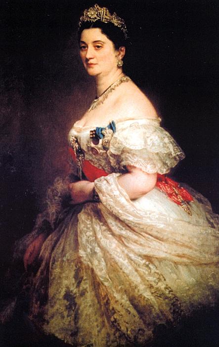 Franz-Xavier Winterhalter. .Правительница Мегрелии Екатерина Чавчавадзе-Дадиани (443x700, 269Kb)