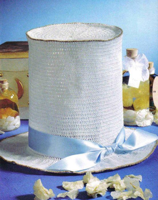 Шляпка-цилиндр, косынка