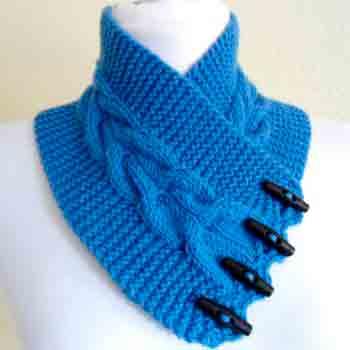 Вяжем шарф манишку