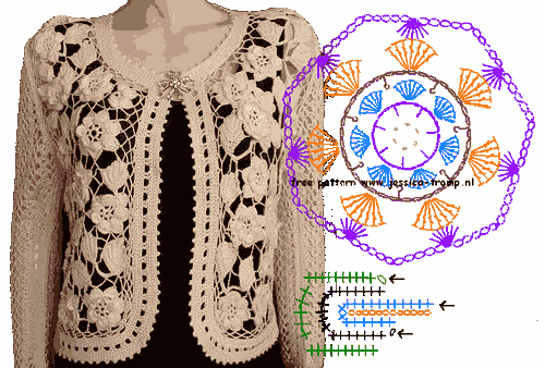 crocheted cardigan gehaakt vest e3b (500x338, 37Kb)
