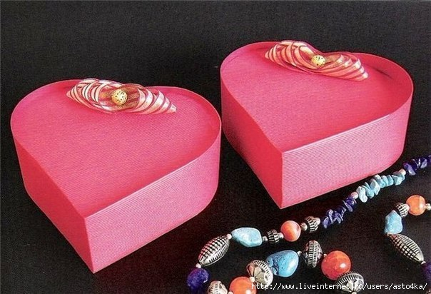 "Подарочная коробочка ""Сердце""."