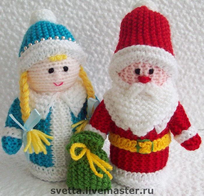 Новогодние поделки своими руками вязание