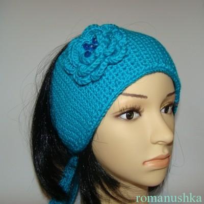 Вязаная повязка на голову на