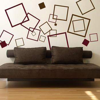 Геометрический рисунок на стене своими руками фото