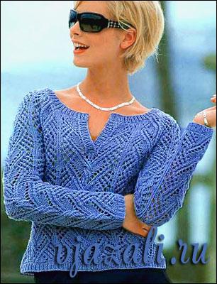 вязание пуловеров спицами для женщин из мохера - Вязание спицами ... вязание ажурных.  Модели вязания спицами с...