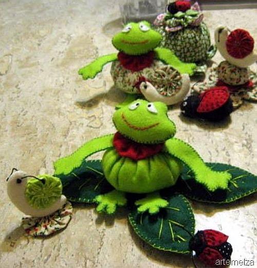 Картинки лягушек поделки