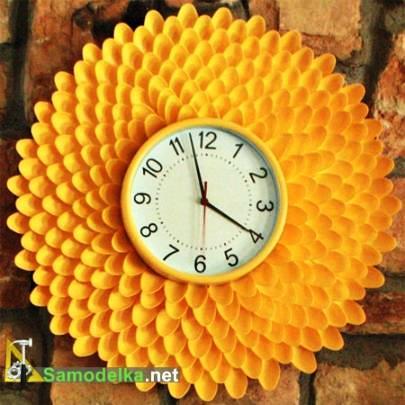 Часы своими руками из ложек и вилок