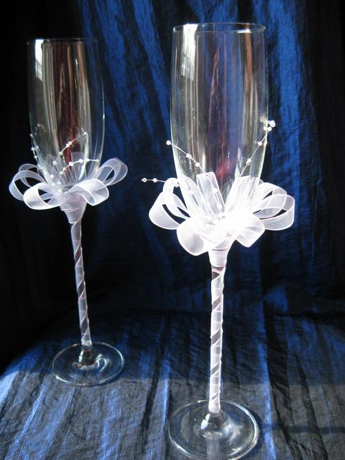 Фото свадебных бокалов своими руками