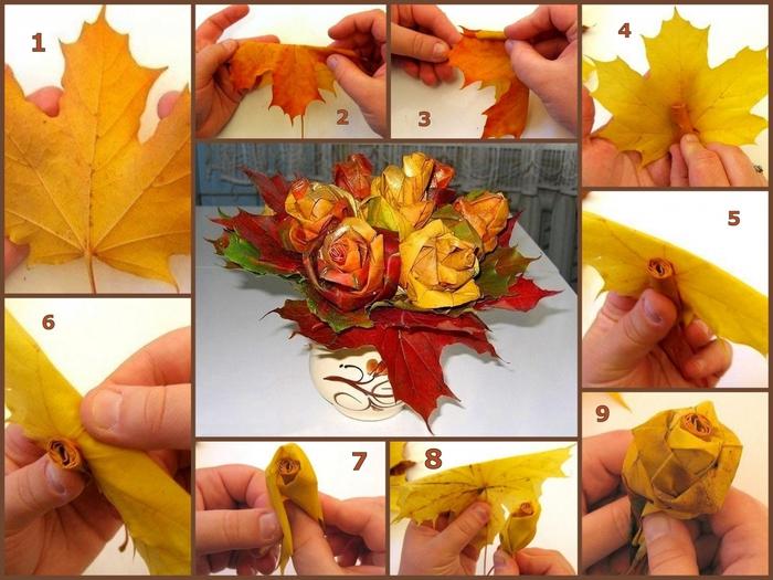Поделки осенних листьев своими руками