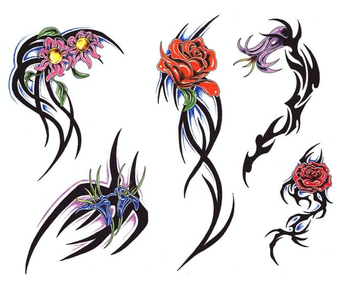 Цветы картинки эскизы 2