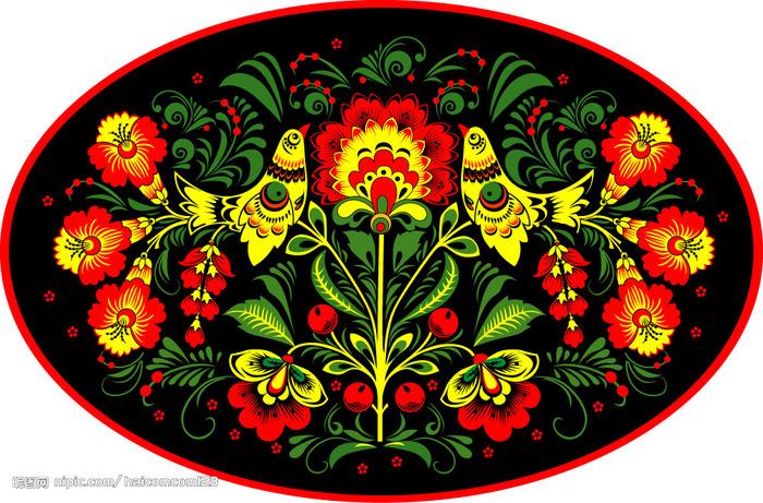 """Оригинал - Схема вышивки  """"Золотая хохлома """" - Схемы автора  """"torik """" - Вышивка крестом."""