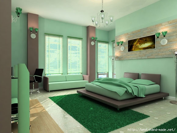 Cool-green-bedrom-interior-decoration-photo (580x435, 130Kb)