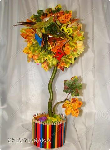 Топиарий из цветных карандашей
