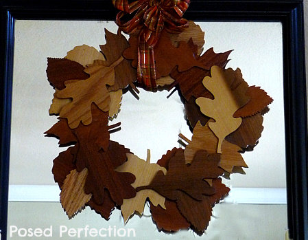 Fall Entry table wooden wreath (449x349, 173Kb)