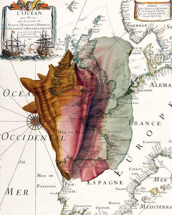 Рисунки на географических картах. 92752581_il_570xN288568114