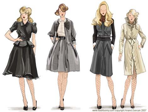 Fashion sketches 470x358 45kb