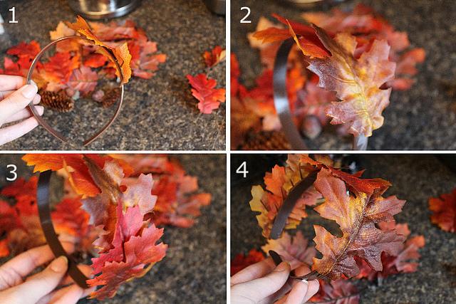 Костюмы осени сделай своими руками фото