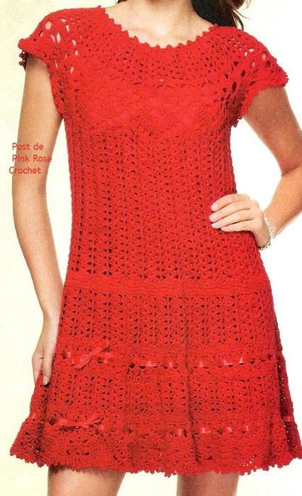 Vestido de Croche -  Pink Rose (426x700, 250Kb)